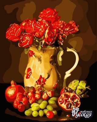 Набор для раскрашивания по номерам Русская живопись B028 Натюрморт с фруктами
