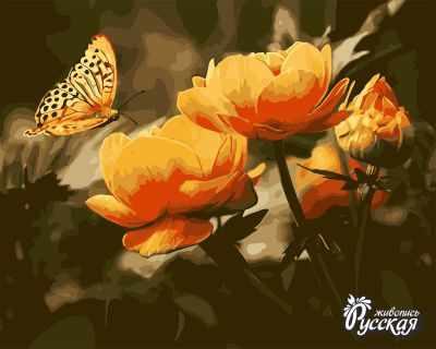 B034 Бабочки и жарки - Раскраски «Русская живопись»