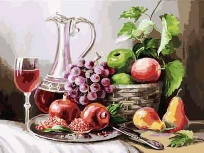 Набор для рисования по номерам Белоснежка 129-AS Натюрморт с фруктами - раскраска (Белоснежка)