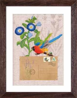 ЕМ 4027 Птички-почтальоны. Вестник веры - Наборы для вышивания «Nova Sloboda»