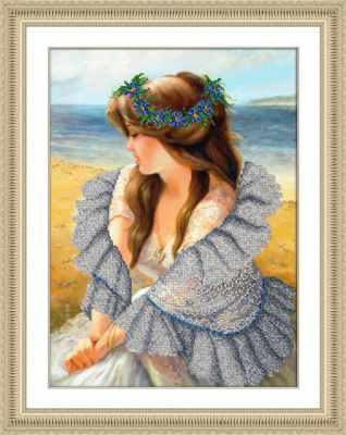Б1483 В ажурной шали (Паутинка) - Наборы для вышивания «Паутинка»