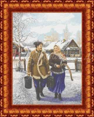 Купить со скидкой КБП 2002 Казак и казачка - схема (Каролинка)