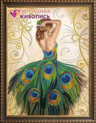 Алмазная мозаика Алмазная живопись Алмазная вышивка Волшебное платье (АЖ-3018) - картина стразами стилус