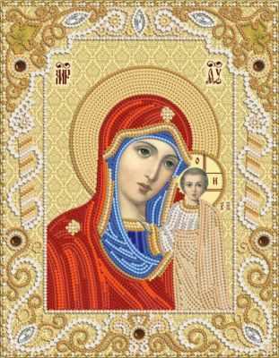 РИК-4002 Венчальная пара. Богородица Казанская - схема (Марiчка)