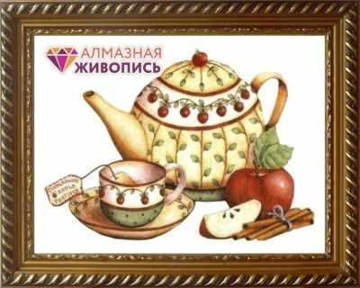 Алмазная мозаика Алмазная живопись Алмазная вышивка Чай с корицей (АЖ-1429) - картина стразами