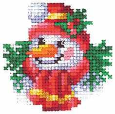 Набор для вышивания Сделай своими руками Н-19 Новогодние игрушки. Снеговик