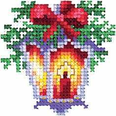 Набор для вышивания Сделай своими руками Н-20 Новогодние игрушки. Фонарик