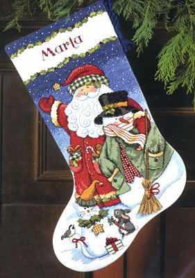 8714 DMS Санта и снеговик