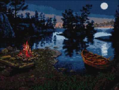 Мозаичная картина Anya Алмазная вышивка 50167 Привал у реки - мозаика Anya