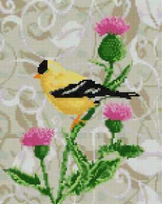 Мозаичная картина Anya Алмазная вышивка 50169 Пташка - мозаика Anya ранняя пташка