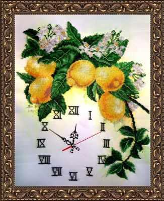 Набор для вышивания FeDi КВ631 Часы с лимонами - набор