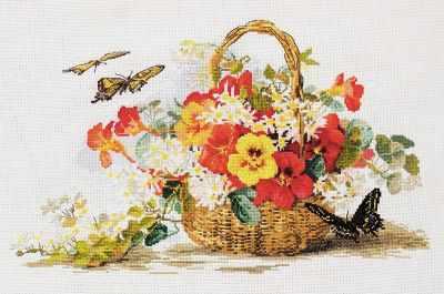Фото - Набор для вышивания Марья искусница 06.002.58 Настурция набор для вышивания марья искусница 02 006 02 ла