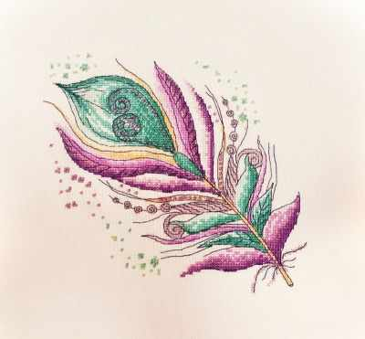 Фото - Набор для вышивания Марья искусница 16.001.01 Лилово-бирюзовое набор для вышивания марья искусница 11 002 25 зима