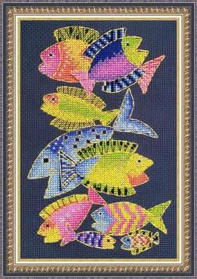 ЦТ-05 Райские рыбки (Neocraft) - Наборы для вышивания крестом «Neocraft»