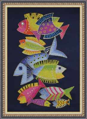 ЦТ-06 Райские рыбки (Neocraft) - Наборы для вышивания крестом «Neocraft»