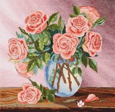 954  Букет роз  - Наборы для вышивания крестиком «HobbyPro»