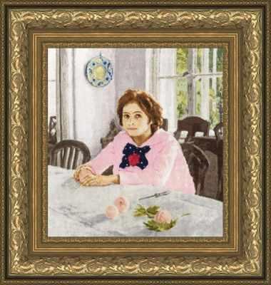 Купить со скидкой МК-039 Девочка с персиками