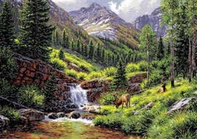 Набор для вышивания Goblenset 1027 Скалистые горы