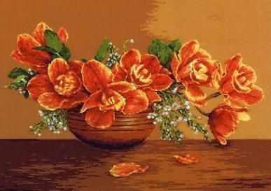 Набор для вышивания Goblenset 1037 Ваза с орхидеями