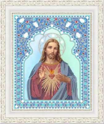 Основа для вышивания с нанесённым рисунком Конёк НИК 7104 Святейшее Сердце Иисуса - схема для вышивания (Конёк)