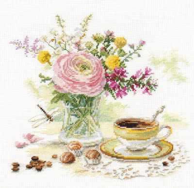 5-18 Утренний кофе - Наборы для вышивания «Алиса»