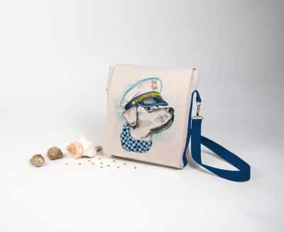 8531 Моряк - набор для шитья и вышивания текстильная сумка-планшет