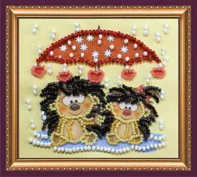 Набор для вышивания Абрис Арт АМА-168 Ежики под зонтиком
