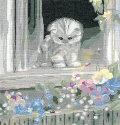 0089 Любопытный котенок (Nitex) - Наборы для вышивания «NITEX»