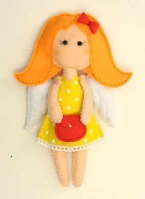 Набор для изготовления изделий из фетра Перловка ПФА-353 АнгелочкиМодница - игрушка (Перловка)