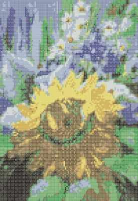 Рисунок-схема для вышивания Золотой Восход а5 Основа д/вышивания бисером на шёлке (Золотой Восход)
