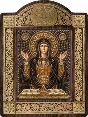 Набор для вышивания иконы Nova Sloboda СН 8013 Образ Прсв. Богородицы