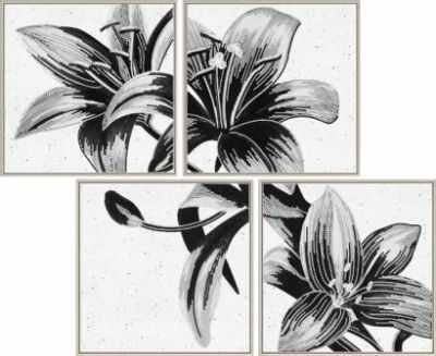 Основа для вышивания с нанесённым рисунком Nova Sloboda В46515 Таинственная лилия