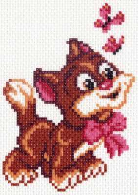 Основа для вышивания с нанесённым рисунком Матрёнин Посад 1422 Мой котенок - рисунок на канве (МП)