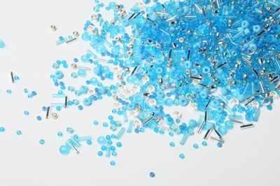Бисер TOHO №3223 бело-голубой MIX 1