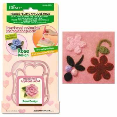 Аксессуар для рукоделия Clover 8924 Форма для аппликаций и фильцевания (Цветы и ягоды)