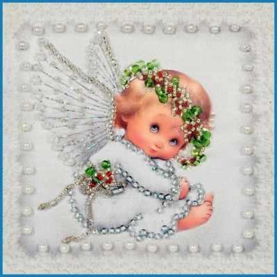 Набор для вышивания иконы Образа в каменьях М-05 Ангелочек