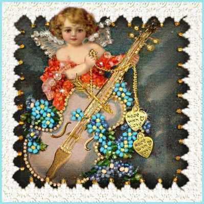Набор для вышивания иконы Образа в каменьях М-30 Валентинка-2