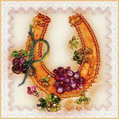 Набор для вышивания иконы Образа в каменьях М-48 На счастье