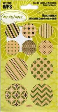 Декоративные элементы и украшения для скрапбукинга Mr.Painter WSP-01 Декоративные наклейки 04 круги 2
