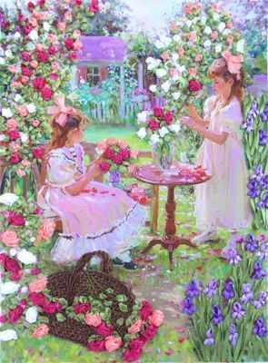 Купить со скидкой НЛ-3049 Цветы для мамы (Марiчка)