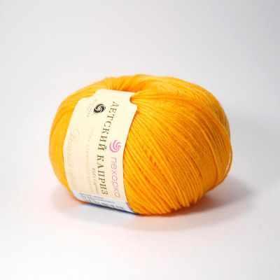 Пряжа Пехорка Пряжа Пехорка Детский каприз Цвет.485 Жёлто-оранжевый