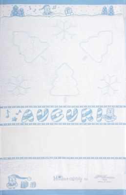 CU4735 Махровое полотенце (40*70, голубой)