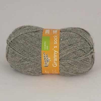 Пряжа Семеновская  Бабушкин носок Цвет.380 М. серый
