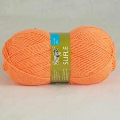 Пряжа Семеновская  Суфле Цвет.142 Апельсин