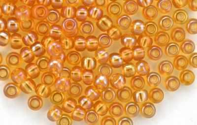 Бисер Preciosa 11050 прозр. с радужным покрытием 10/0, 20гр