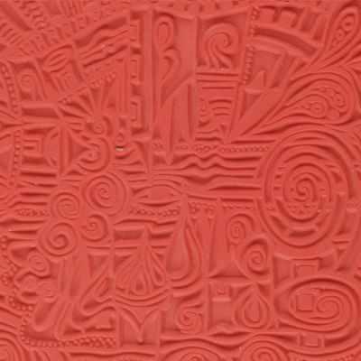 CE95007 Текстура для пластики резиновая 9х9 см Деревня - Инструменты для лепки из полимерной глины
