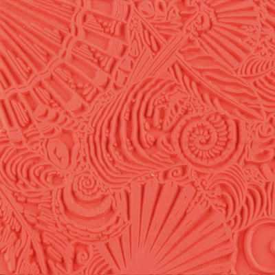 CE95008 Текстура для пластики резиновая 9х9 см Ракушки - Инструменты для лепки из полимерной глины