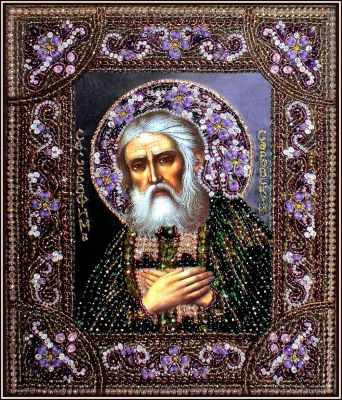 Набор для вышивания иконы Образа в каменьях 7738 Преподобный Серафим Саровский