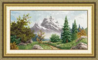 Набор для вышивания Золотое Руно ЛП-049 Алтайский пейзаж набор для вышивания золотое руно лп 033 лесной страж лирический пейзаж