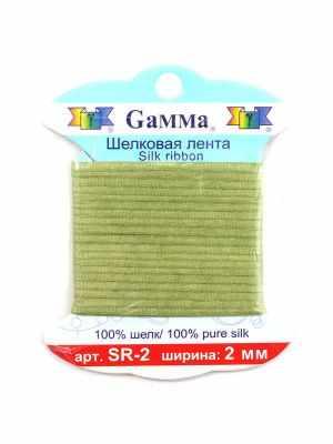 Ленты Gamma SR-2 2 мм. Тесьма декоративная №193 св.зеленый